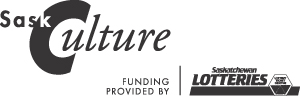 SaskCulture/Saskatchewan Lotteries Logo - Black and White