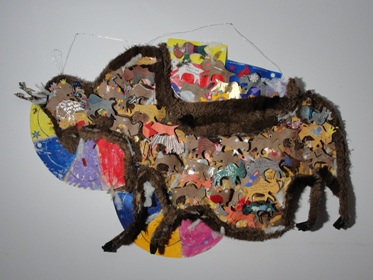 Building a Buffalo Out of Art Cards