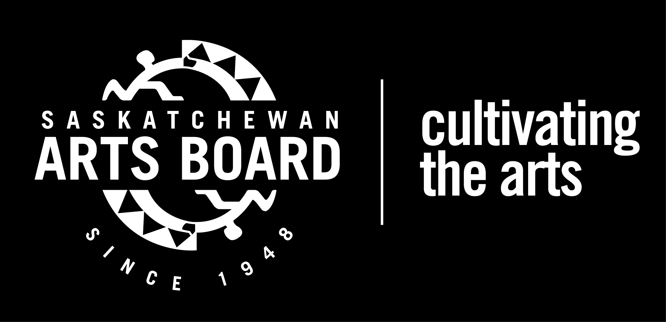 Saskatchewan Arts Board Logo - White