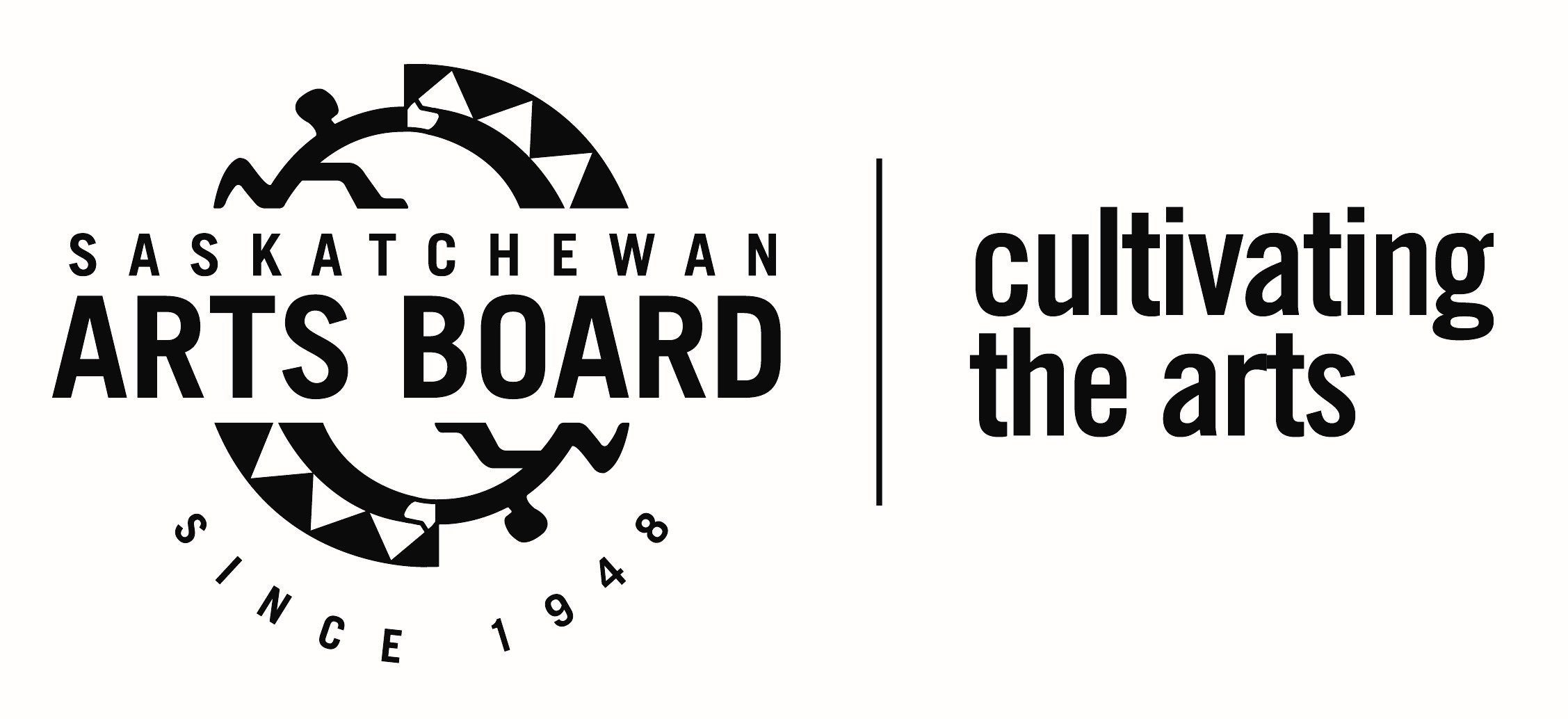 Saskatchewan Arts Board Logo - Black and White